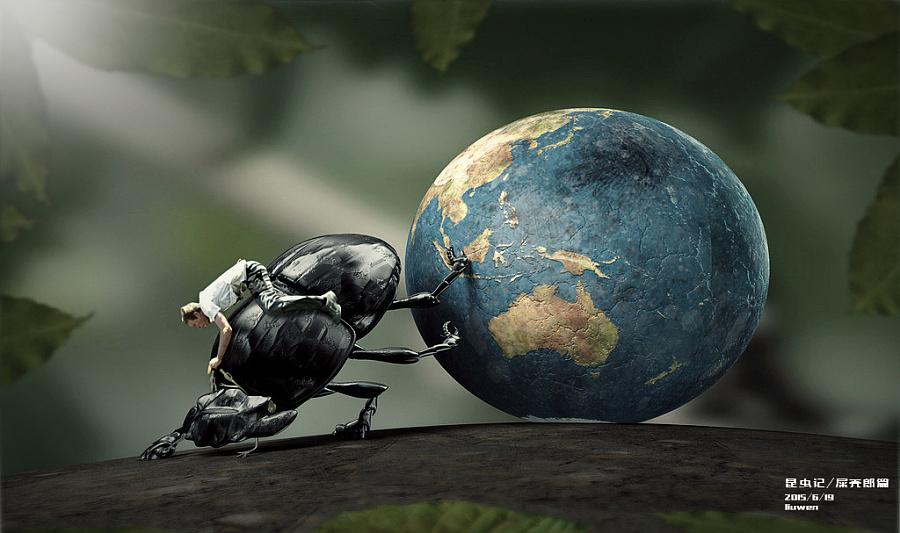 行业记|DM/宣传单/平面广告|全国|积木人Even比例建筑设计昆虫平面专业图片