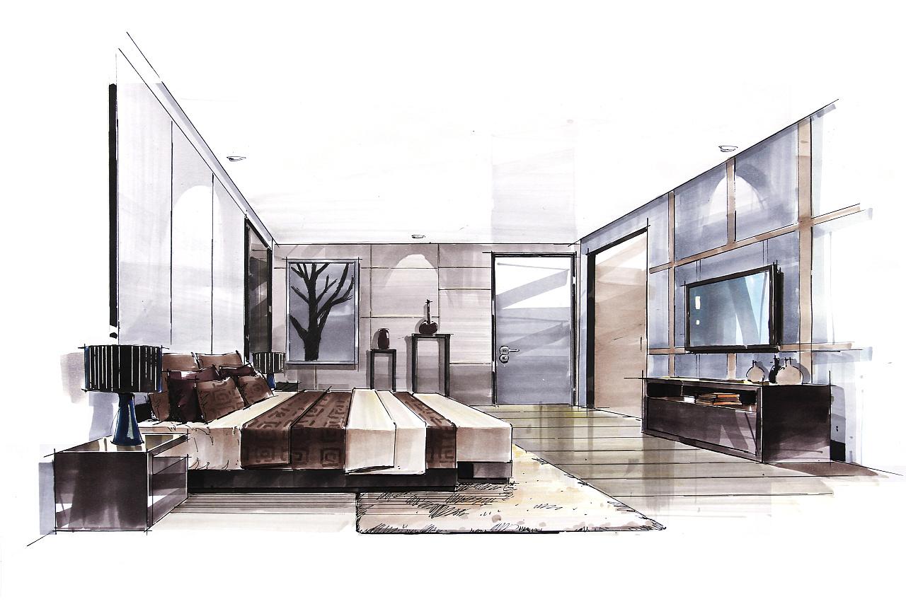 卧室空间表现.|空间|室内设计|小影不语 - 原创作品