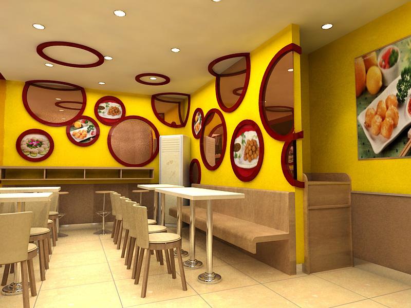 餐饮连锁加盟店设计|上海餐饮店设计|中式快餐