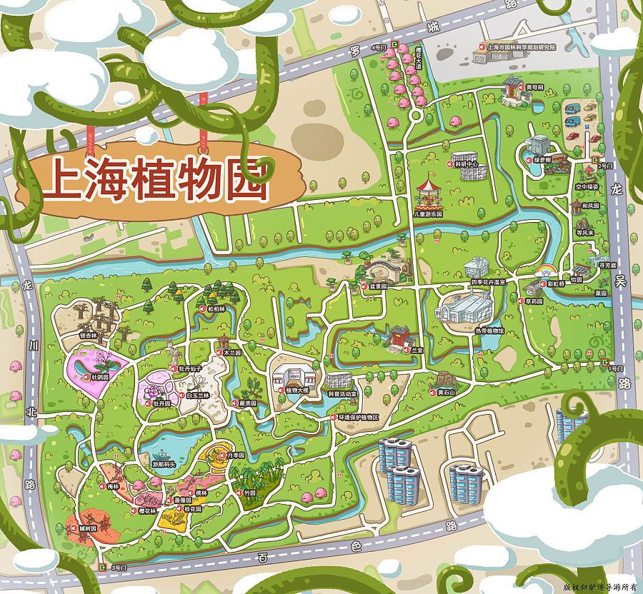 景区手绘地图