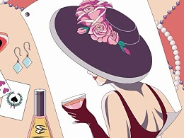 丝巾设计——粉粉