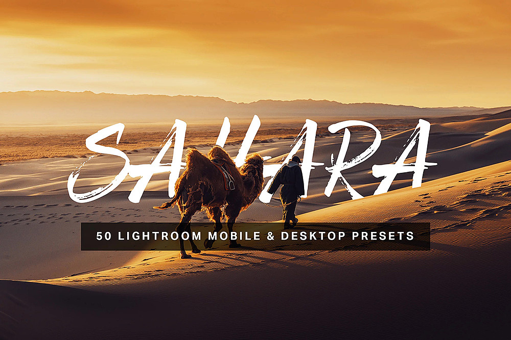 【P222】沙漠通透旅拍风LR预设+3DLUT预设 sparklestock Sahara Lightroom Preset and LUTs