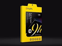 E-Faith手机钢化膜包装设计