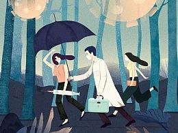 抗疫插画—逆行者