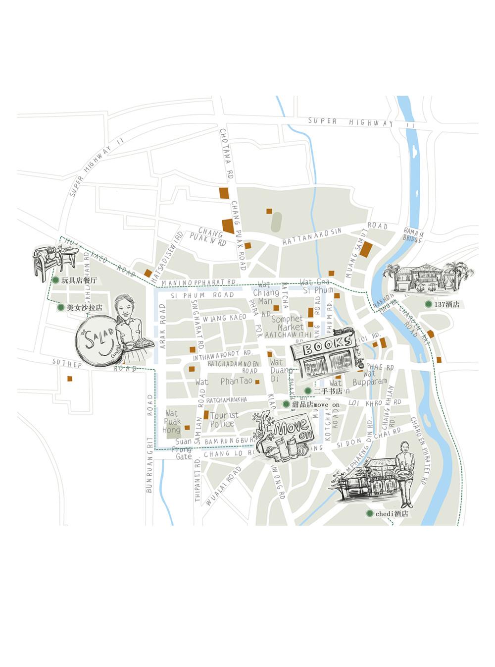 泰国系列手绘地图
