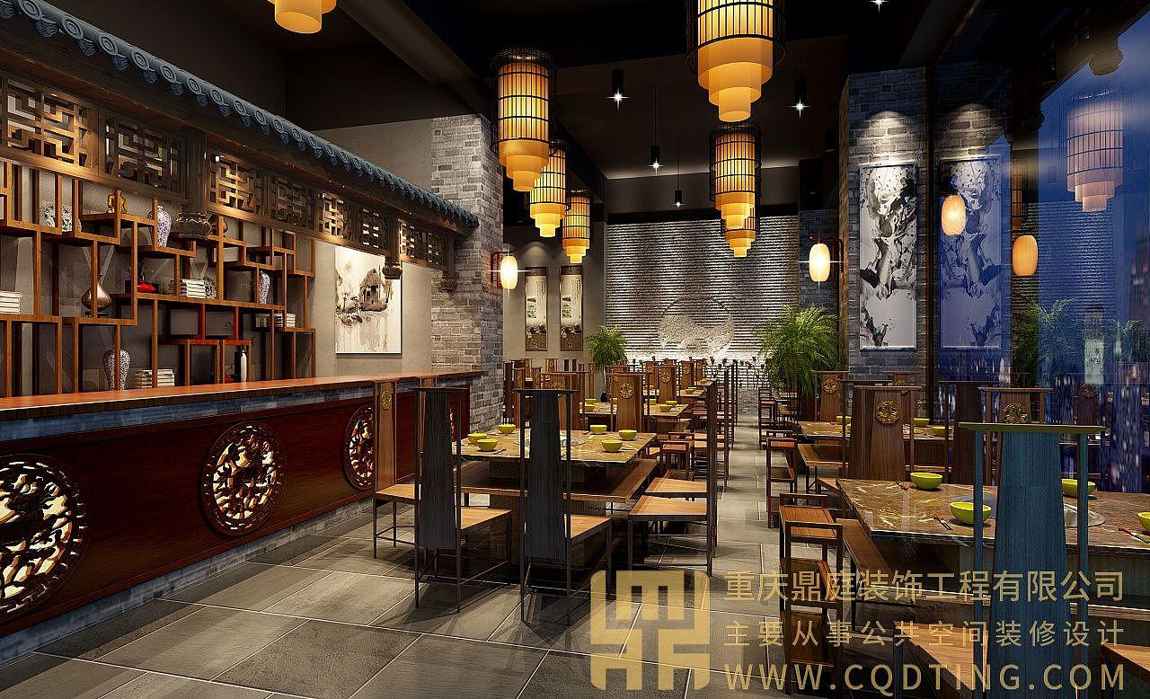 重庆尺寸装修/餐饮v尺寸/餐饮装修设计/案例餐饮效果图室内设计快速熟记常规餐饮图片