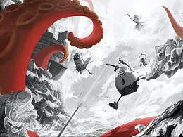 动画电影《美食大冒险》创意海报设计
