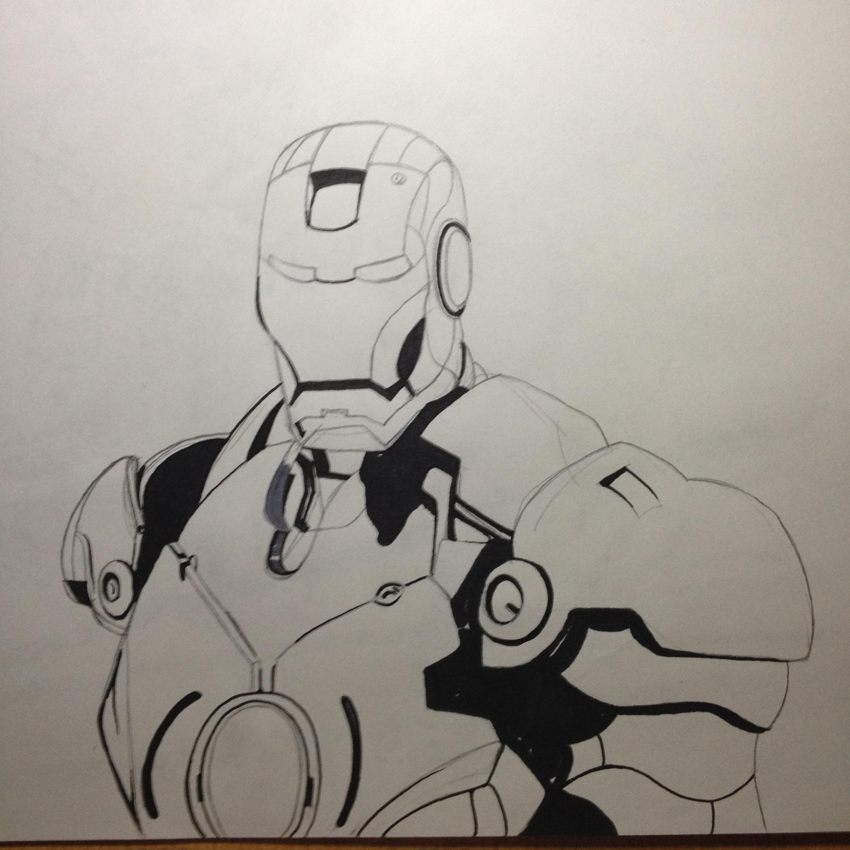 ironman马克笔手绘