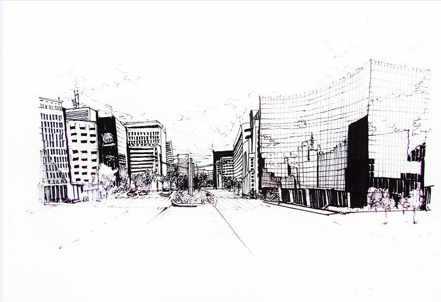 手绘效果图线稿 三维 建筑/空间 zhongyezhou - 原创
