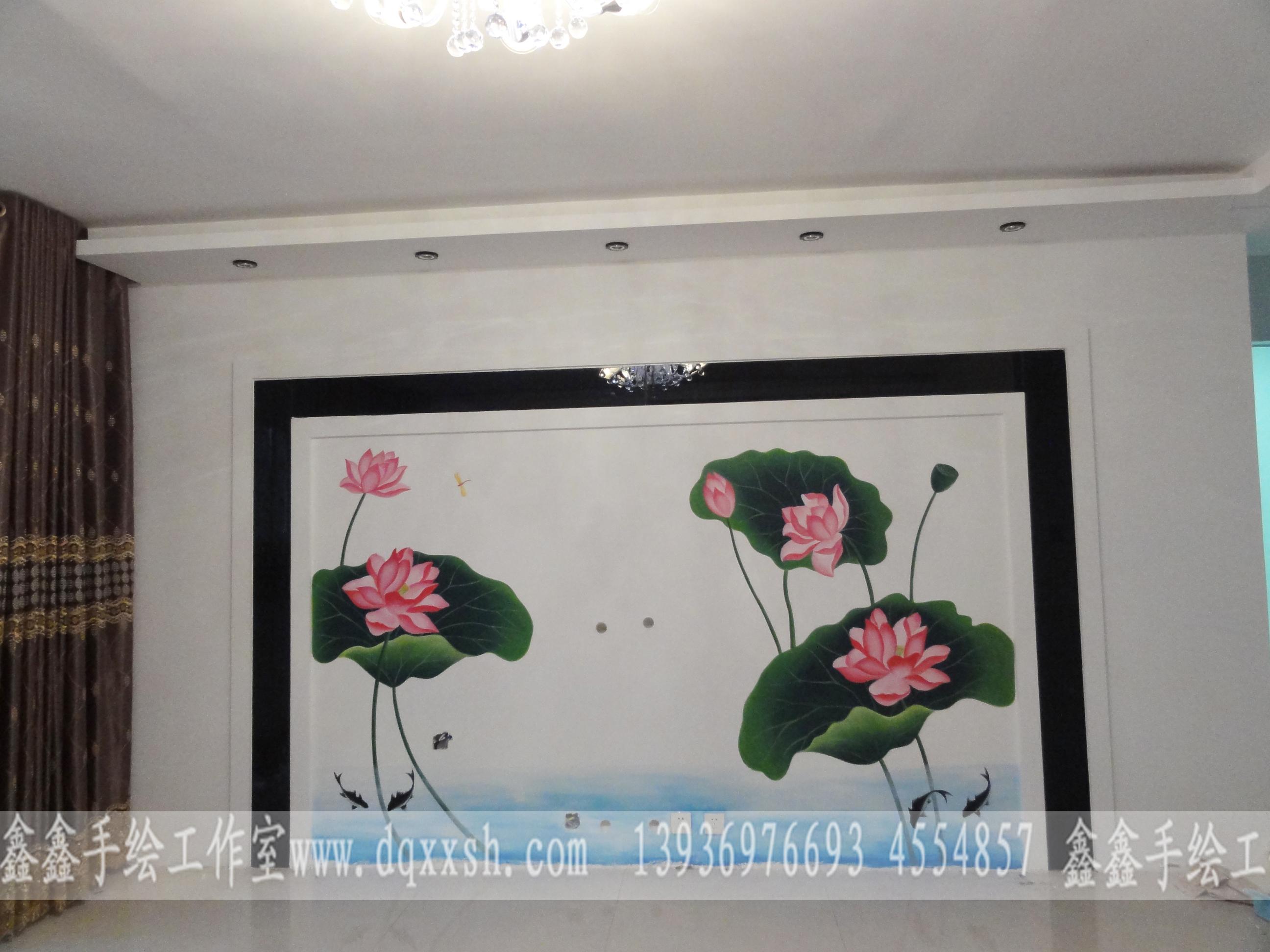 电视墙|插画|商业插画|大庆小陆手绘墙 - 原创作品