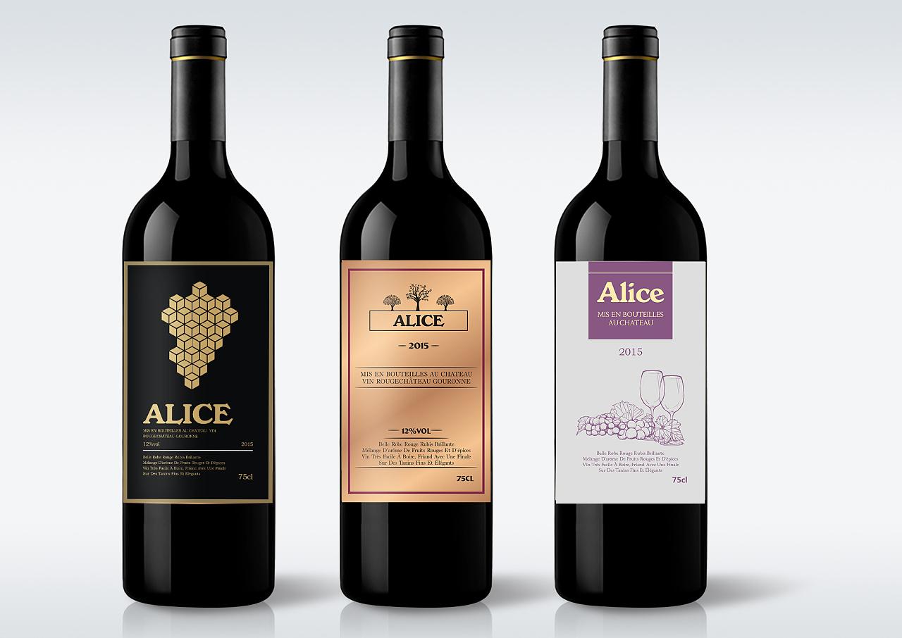 红酒标签 包装设计图片
