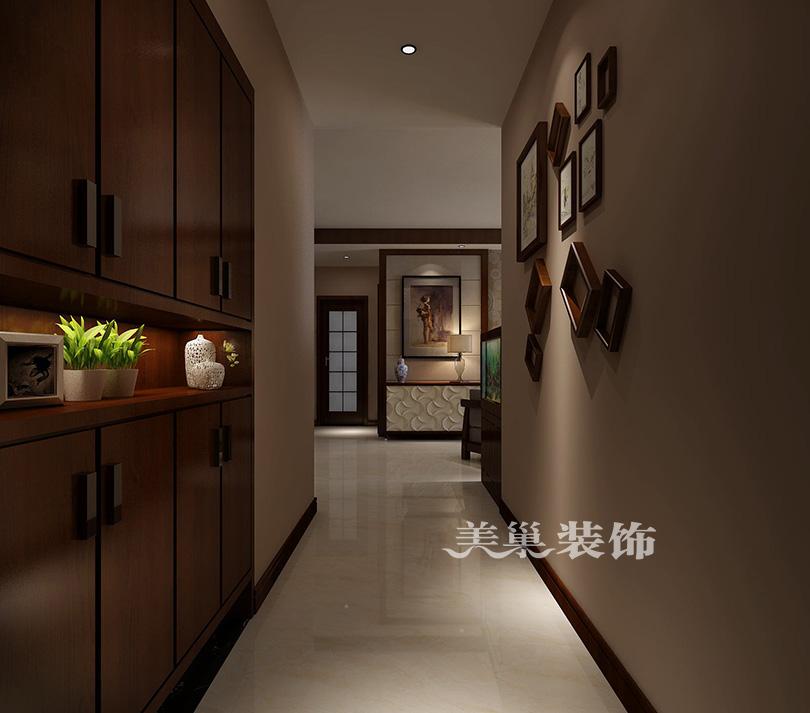 千鹿山120平三室两厅新中式装修效果图
