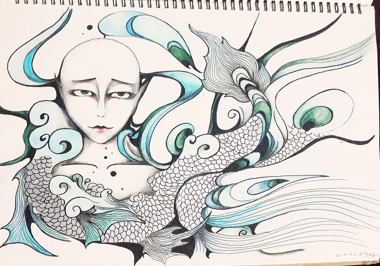 手绘黑白装饰画 平面 图案 林绵绵 - 原创作品 - 站酷