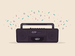 Illustrator中创建90年代收音机