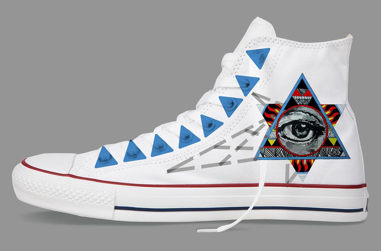 顺手绘匡威鞋设计——眼眸