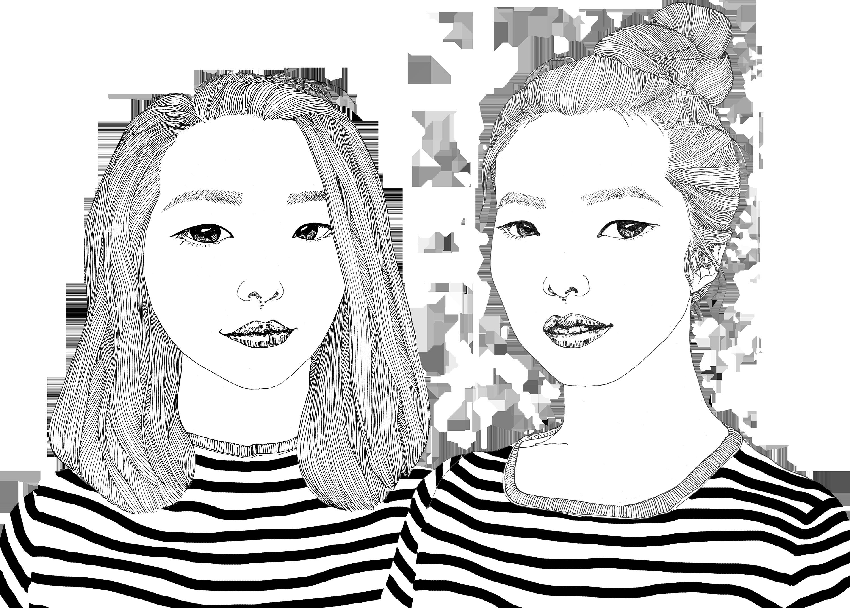 微信双胞头像手绘