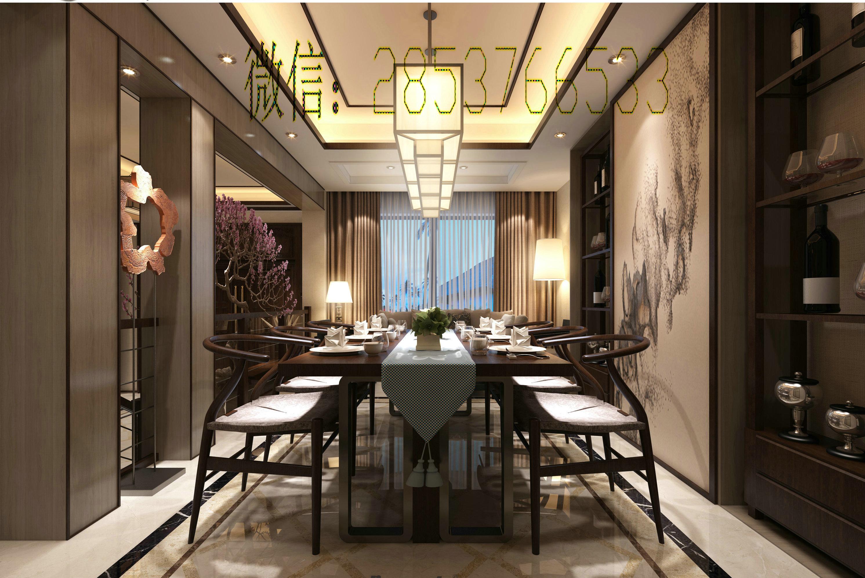 贵阳别墅装修设计案例,绝美的新中式v别墅!500平方别墅美式图片