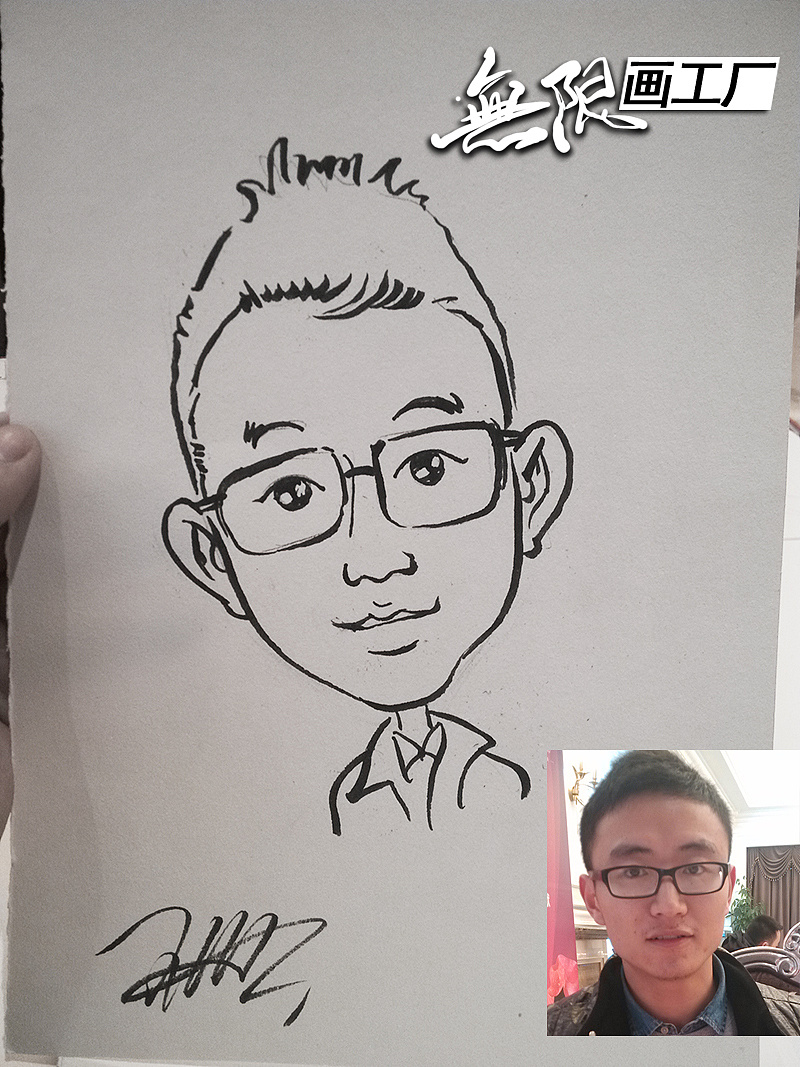 现场手绘漫画 肖像漫画速绘卡通表演开业庆典房地产暖场活动
