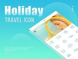 旅行度假主题图标 | HOLIDAY TRAVEL ICON