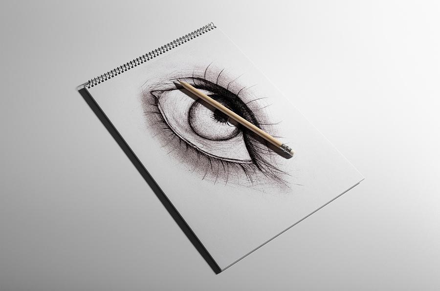 手绘素描(眼睛)