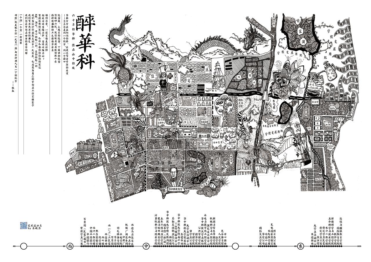 华科手绘地图