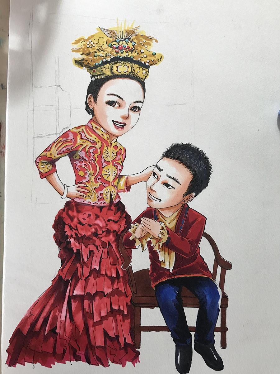马克笔手绘肖像