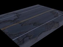 redshift水渍路面(带工程)