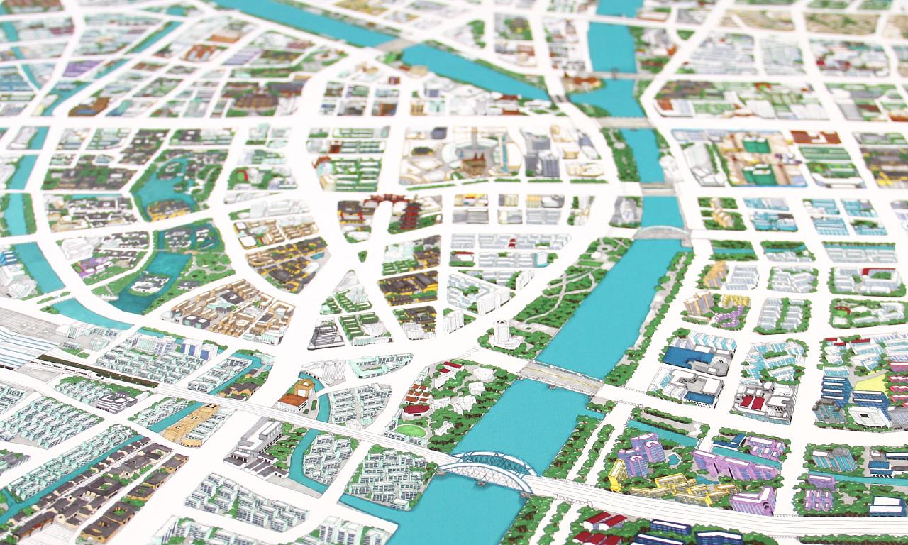 宁波市手绘地图