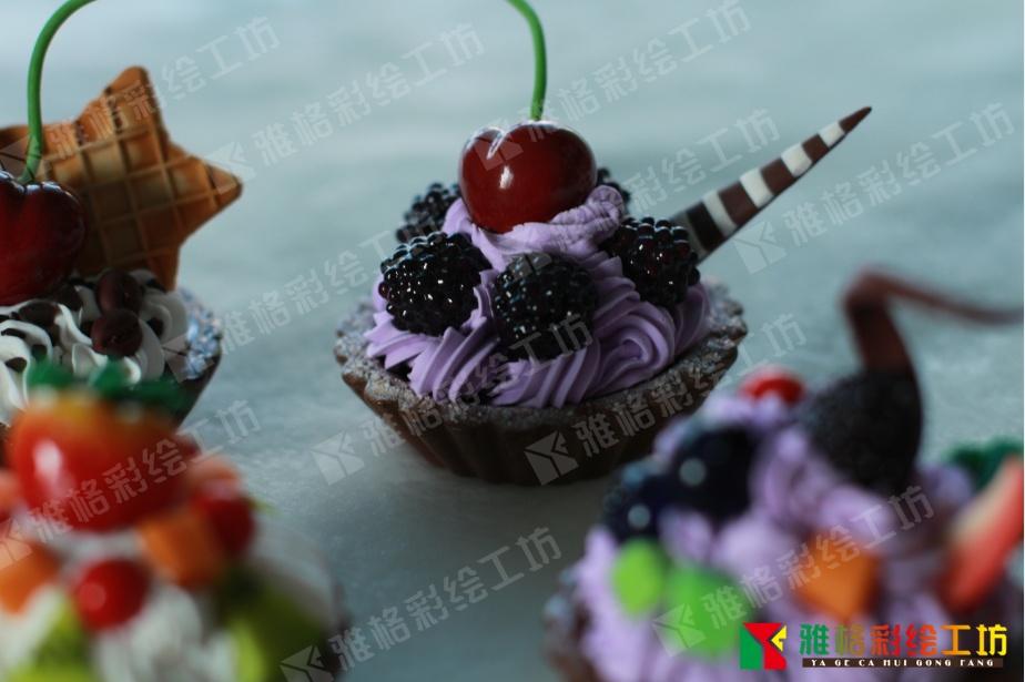 超轻粘土教程可爱简单甜点 图片合集