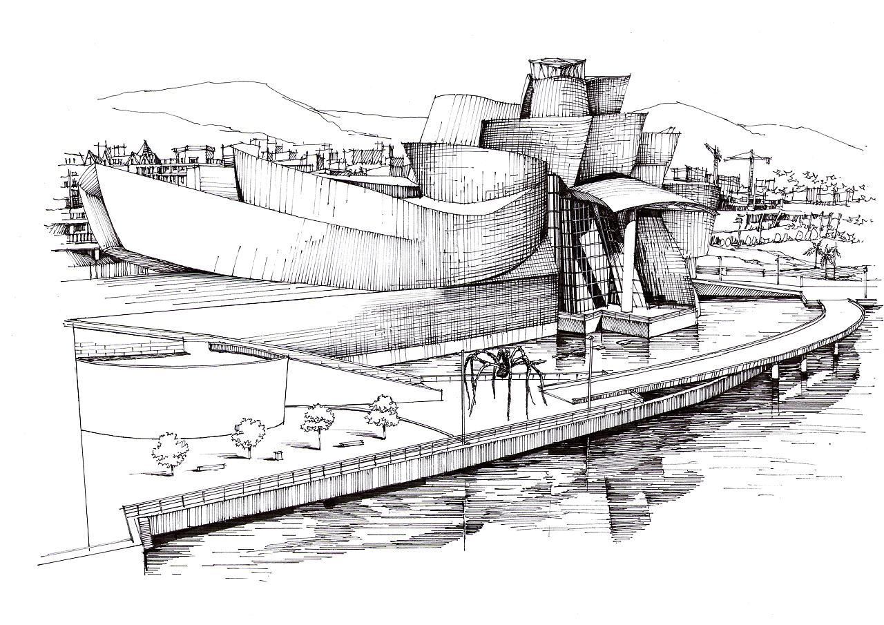 建筑大师作品——古根海姆博物馆|空间|建筑设计|建学图片