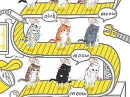 《铲屎官请自重》——拎猫头像表情系列