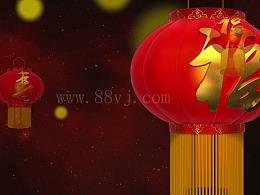 新年  红色灯笼  喜庆全息素材