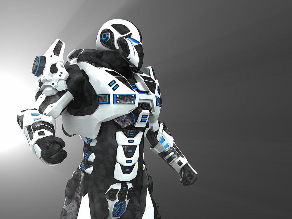 3d效果机器人|三维|人物/生物|eva_1004 - 原创作品