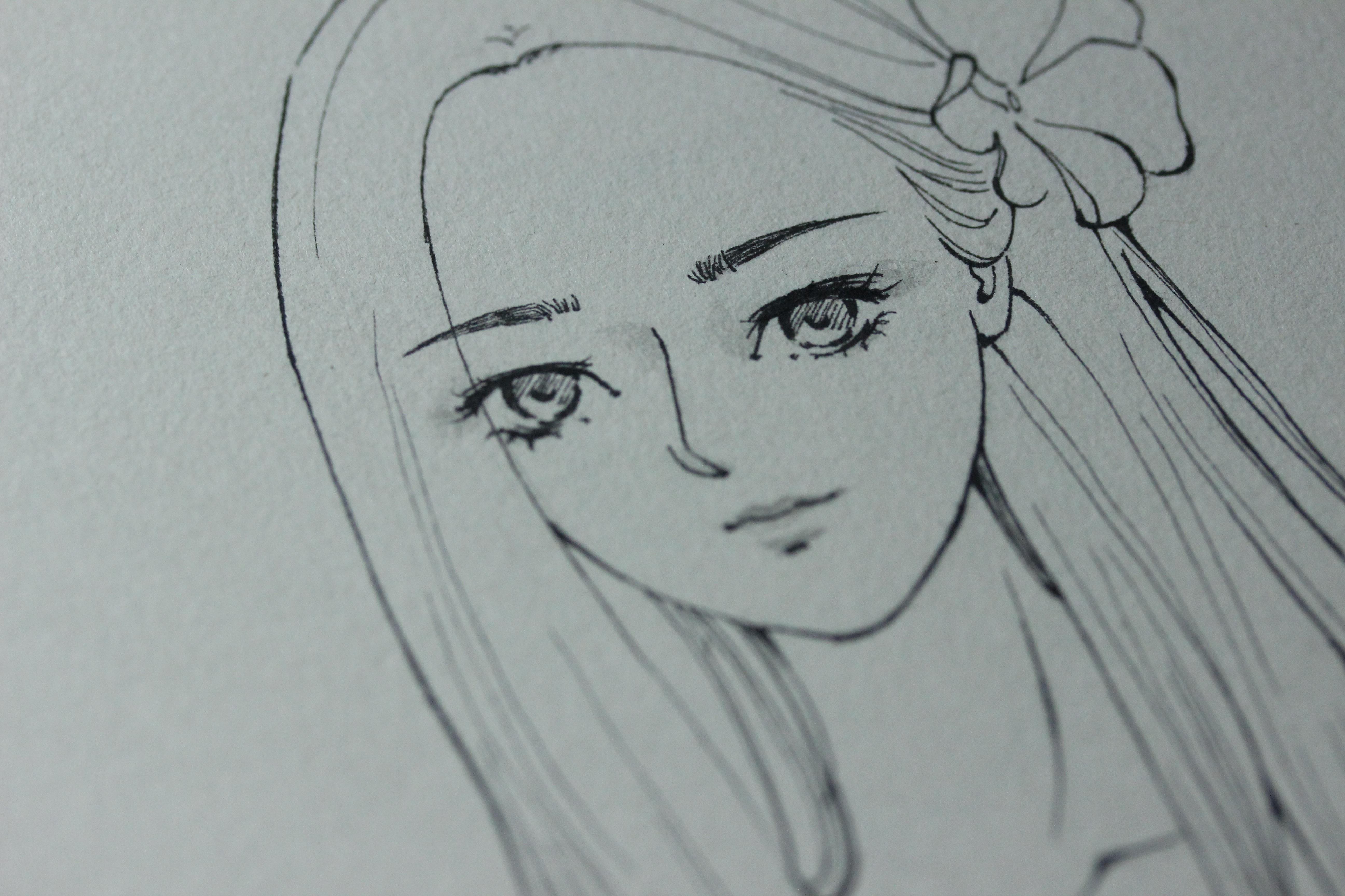 简单的黑白 插画 插画习作 阿fish - 原创作品 - 站酷