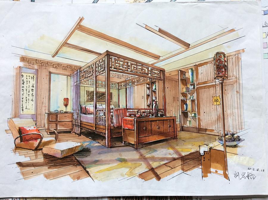 室内快题设计|室内设计|空间/建筑|liujunge刘君格