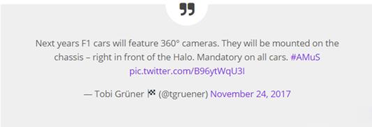 F1赛事更换新LOGO,并将在明年加入360°摄像头