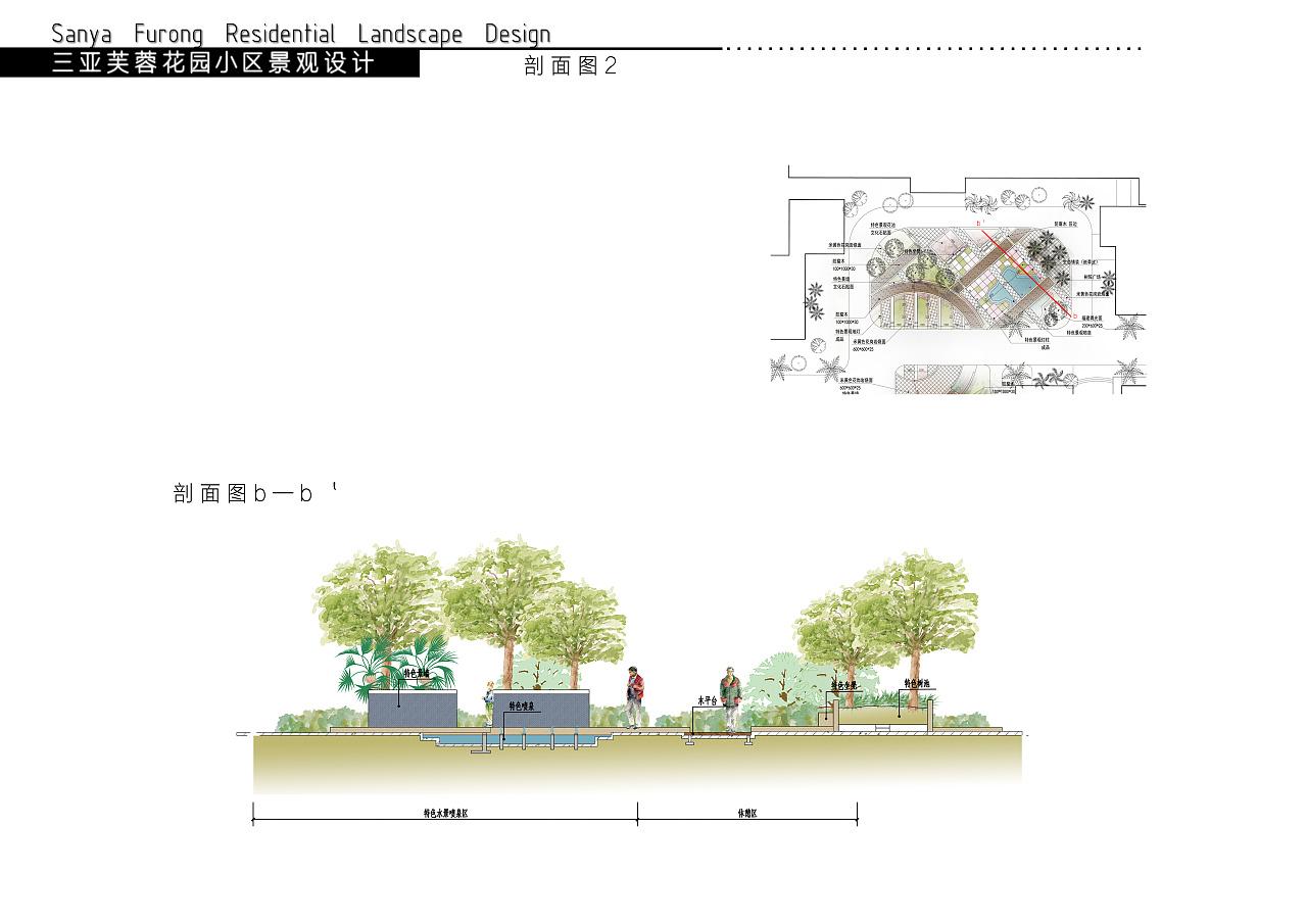 三亚芙蓉花园小区环境景观设计方案图片