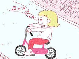 街道上的自行车