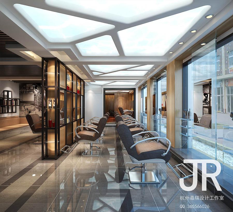 杭州弧丝乱发美发沙龙(杭州嘉瑞设计工作室)|室内设计图片