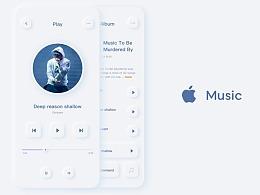 apple music-新拟态概念设计