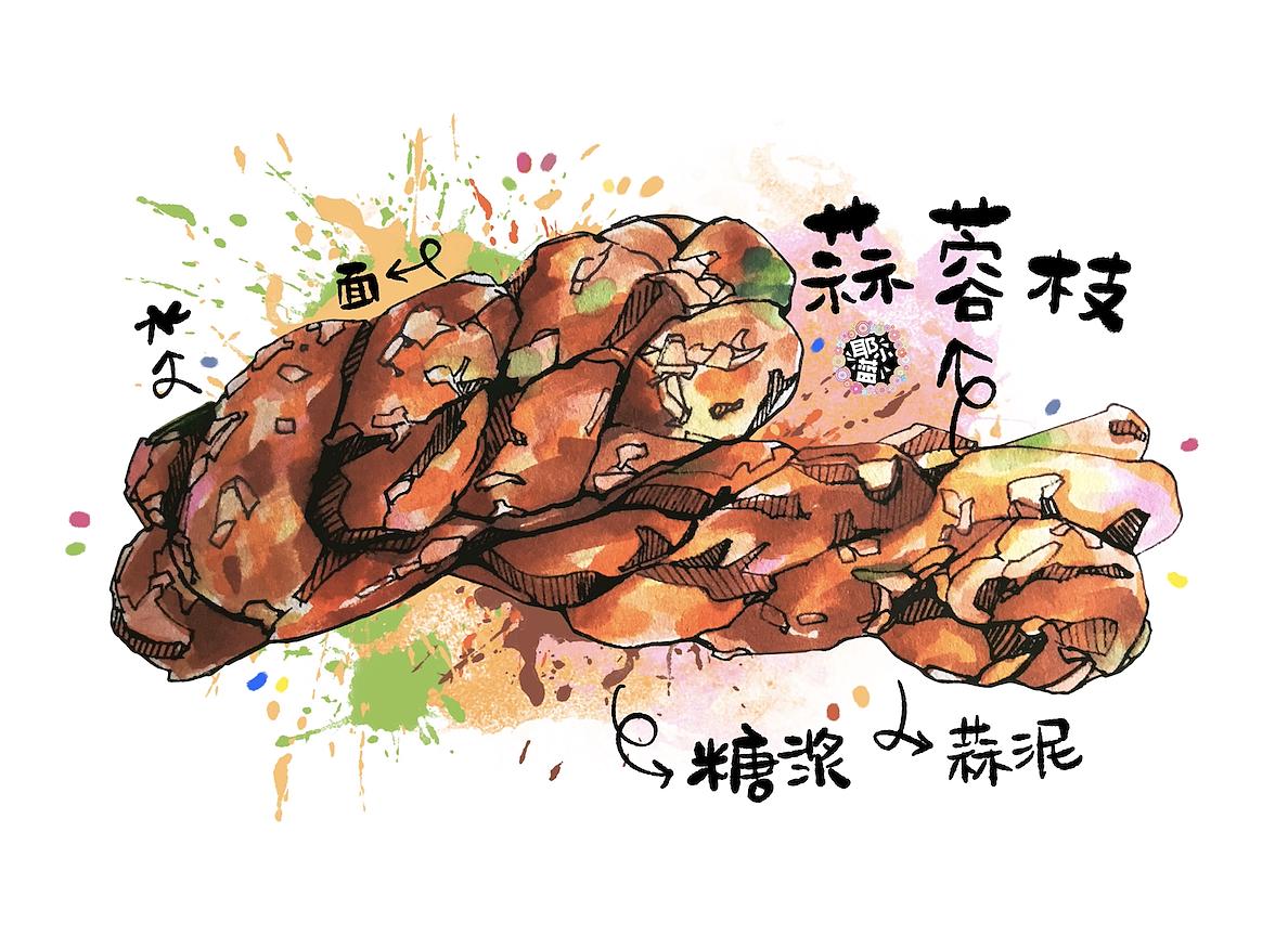 厦门美食马克笔手绘插画 人间最美的烟火 - 茶配