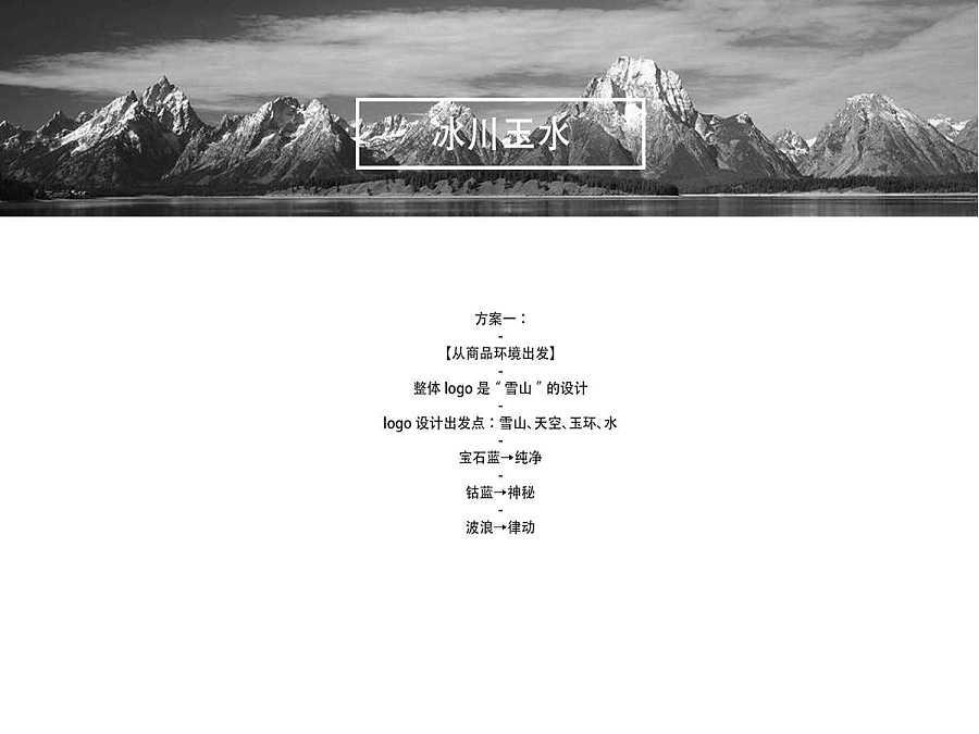 冰川玉水矿泉水logo/vi提案|vi/ci|平面|路过的人