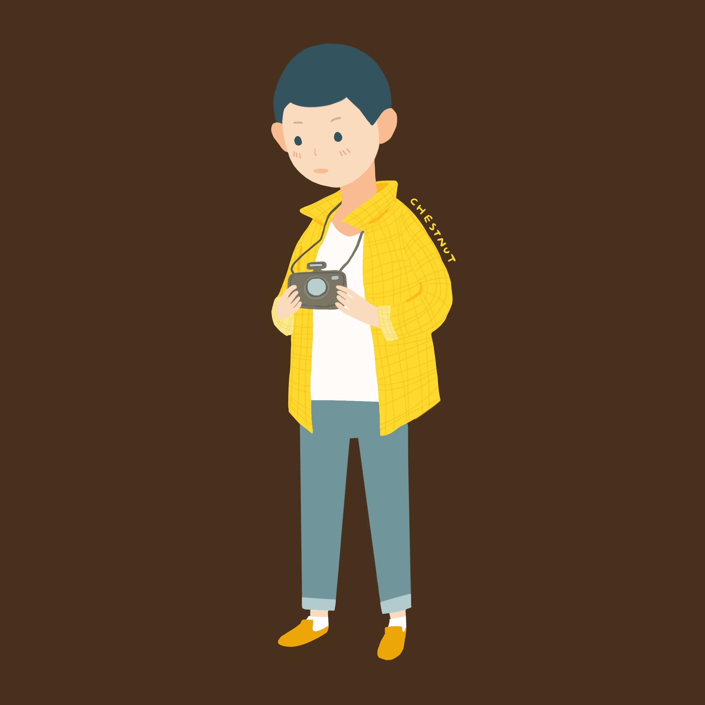 小男孩人物插画