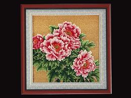 盘金毯-牡丹图