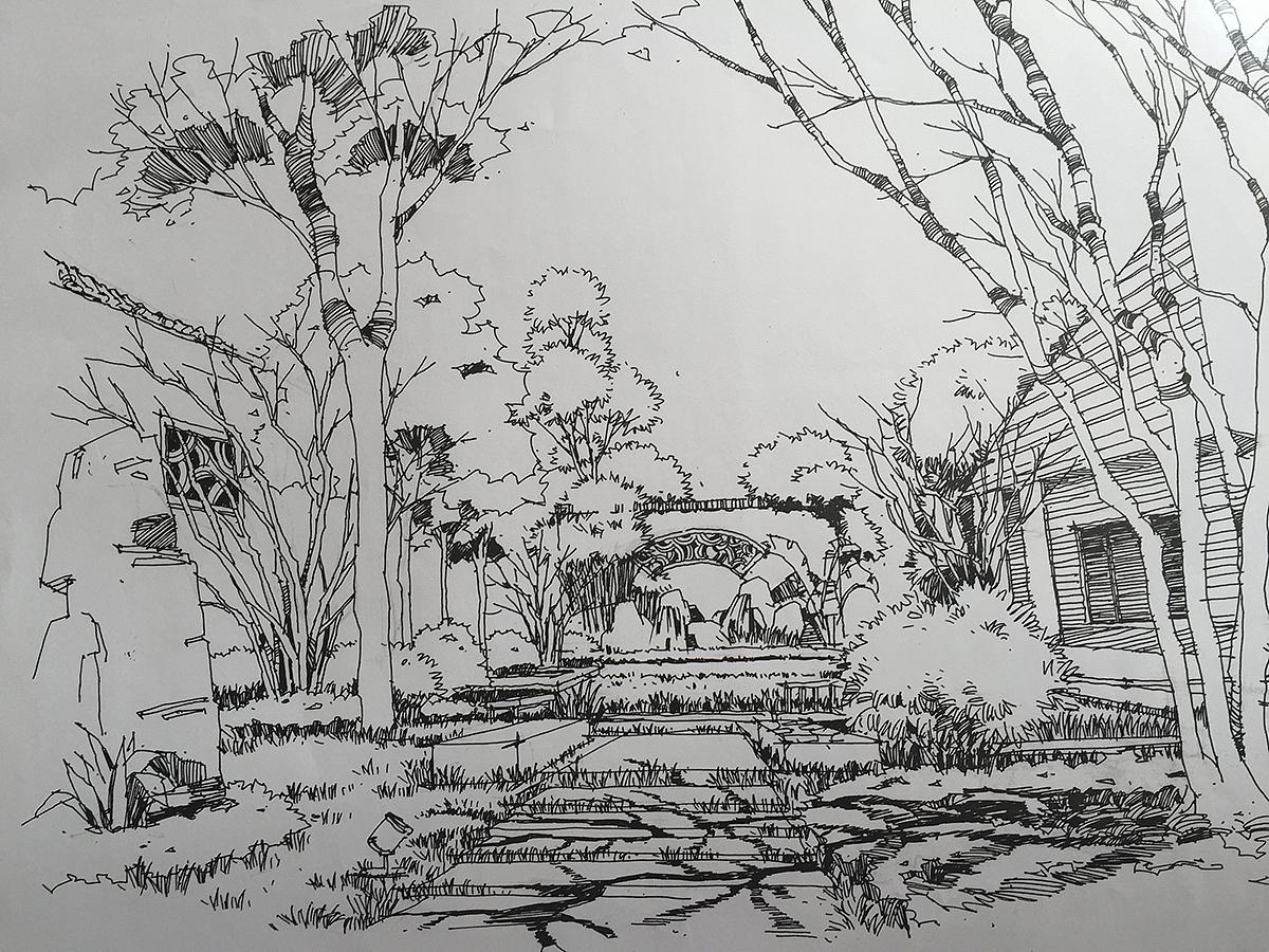 手绘小稿|空间|景观设计|gerald2015 - 原创作品