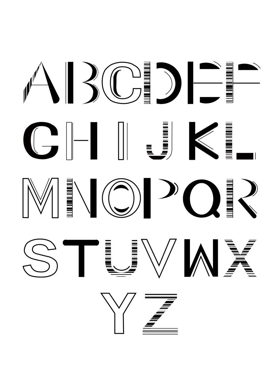字体与数字v字体|字母/字形|平面|海王星活着-原室内设计公司简介海报图片