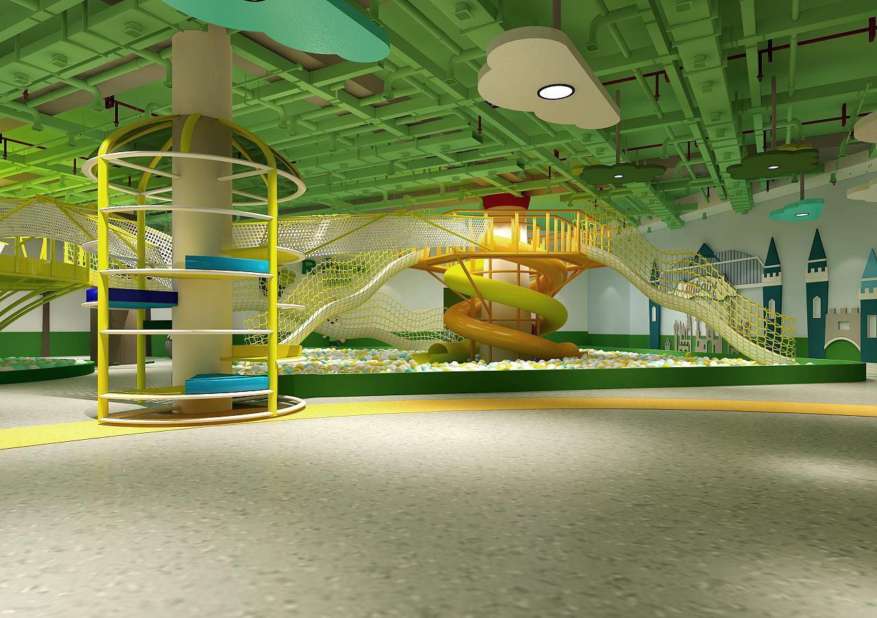 室内儿童游乐场~|空间|室内设计|张丽天斐效果图