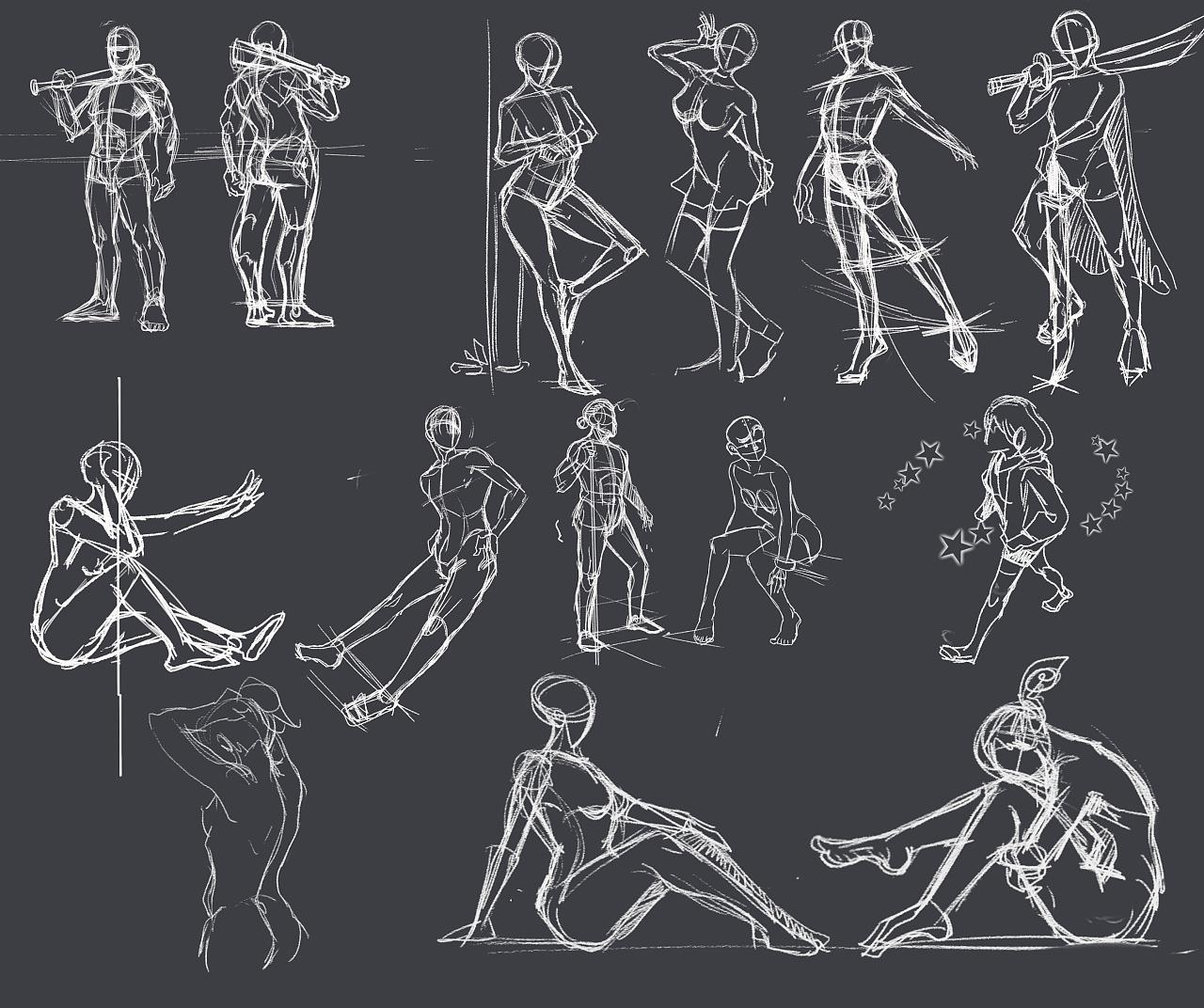 动漫人体结构_那些年画过得人体结构|动漫|单幅漫画|chris - 原创