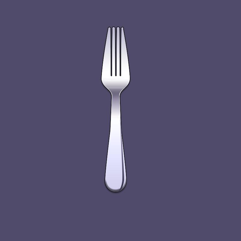 自己尝试画了一个西餐厅叉子图标(icon)