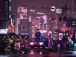 NIKE+TAKA Orignal+KIKS——Cyber City